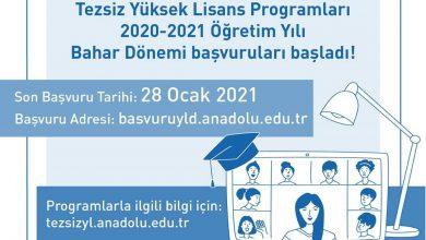 2020-2021 Açıköğretim Yüksek Lisans Başvuruları (Bahar Dönemi)