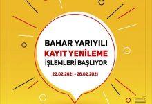 İstanbul Üniversitesi (AUZEF) 2021 Bahar Dönemi Kayıt Yenilemeleri