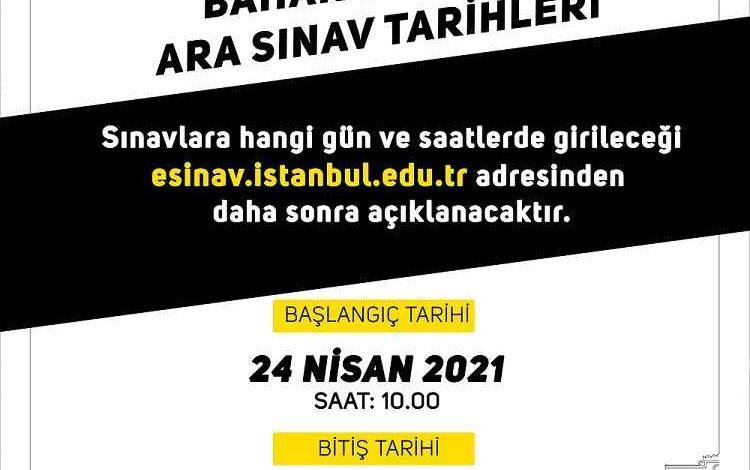 AUZEF Bahar Dönemi Online Sınav Tarihleri (2021)