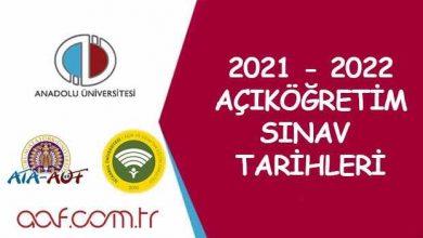 2021 - 2022 Açıköğretim Sınav Tarihleri Ne Zaman