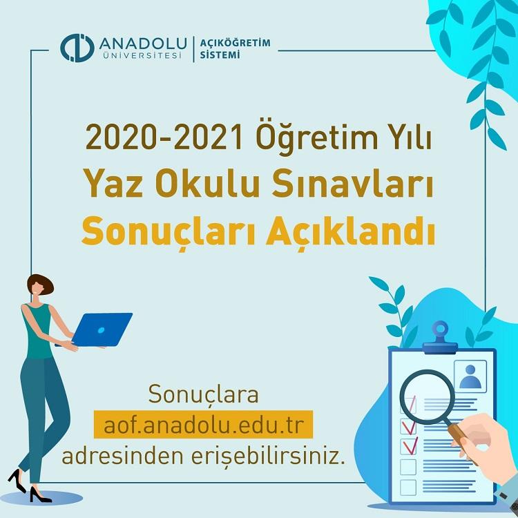 2021 Aof Yaz Okulu Sonuçları